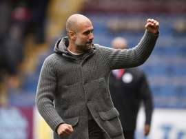Guardiola's side moved back to the summit of the Premier League on Sunday. AFP