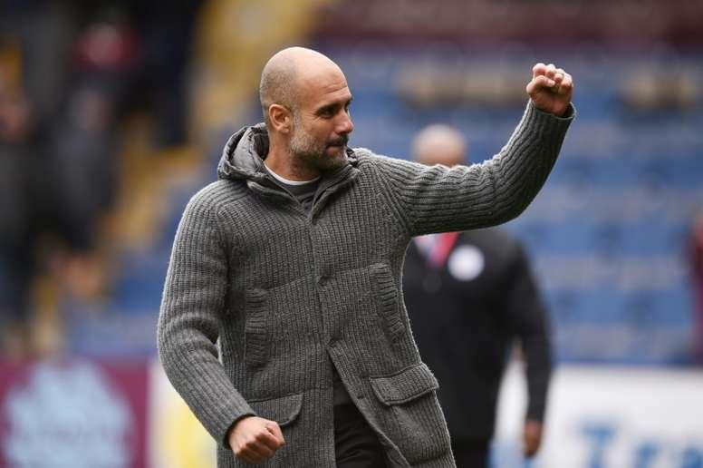 Pep Guardiola no se fía de la visita al Burnley. AFP