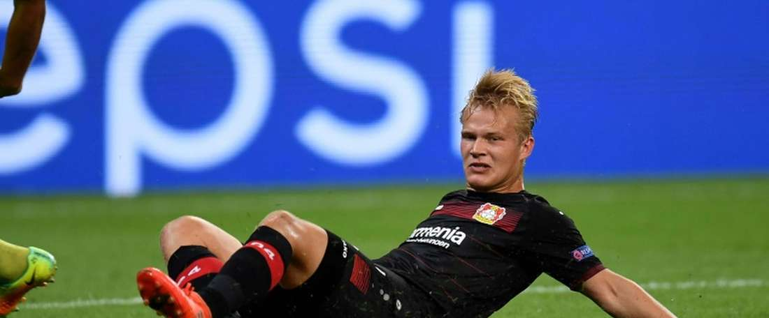 Leverkusen's Pohjanpohla will not play for one month due to a hip injury. AFP
