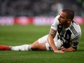 Bonucci was at Milan last season. AFP