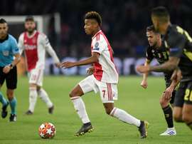 David Neres in Champions League action against Juventus. AFP