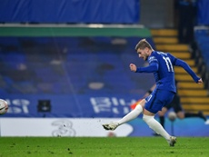 Timo Werner and Chelsea were far too good for Sheff Utd despite falling behind. AFP