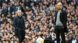 Mourinho and Guardiola have had plenty of run-ins in the past. AFP