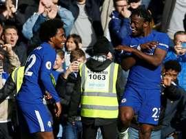 Batshuayi foi decisivo na vitória do Chelsea. AFP