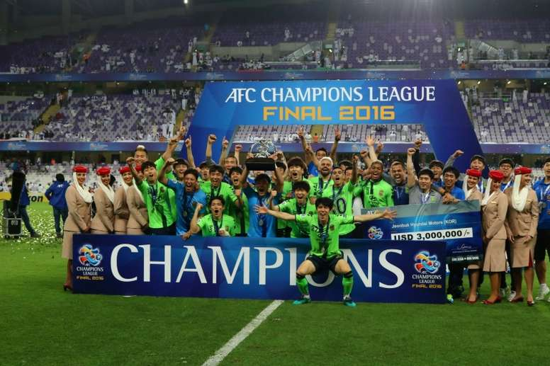 Jeonbuk lifted the AFC Champions League in November but could be banned. AFP