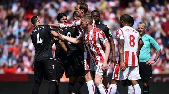 Stoke, de volta ao Championship. AFP