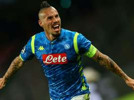 Napoli recognise Hamsik as a club legend. AFP