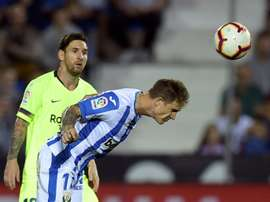 Messi and co. failed to congratulate the Leganes players. AFP