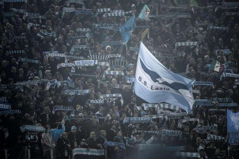Cánticos racistas en el Lazio-Novara. AFP