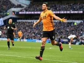 Raul Jimenez admits he's pleased with Juve and united's interest. AFP