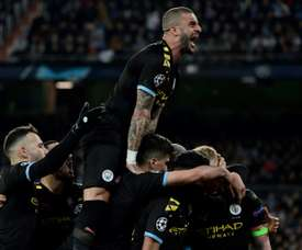 Man City will face Real Madrid at the Etihad. AFP