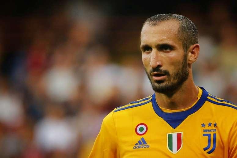 Chiellini jugará en Champions. AFP