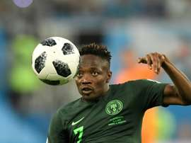 Musa opened the scoring for Nigeria. AFP