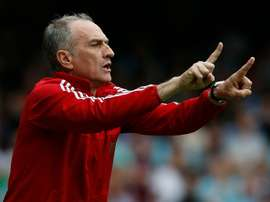 Guidolin shouts instructions to his side from the sidelines. AFP