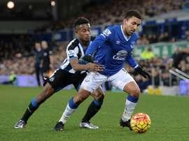 Aaron Lennon dejará el Everton y está próximo a llegar al Watford. AFP