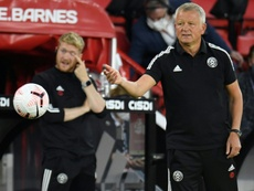 Sheff Utd boss Chris Wilder is confused by the current coronavirus rules. AFP