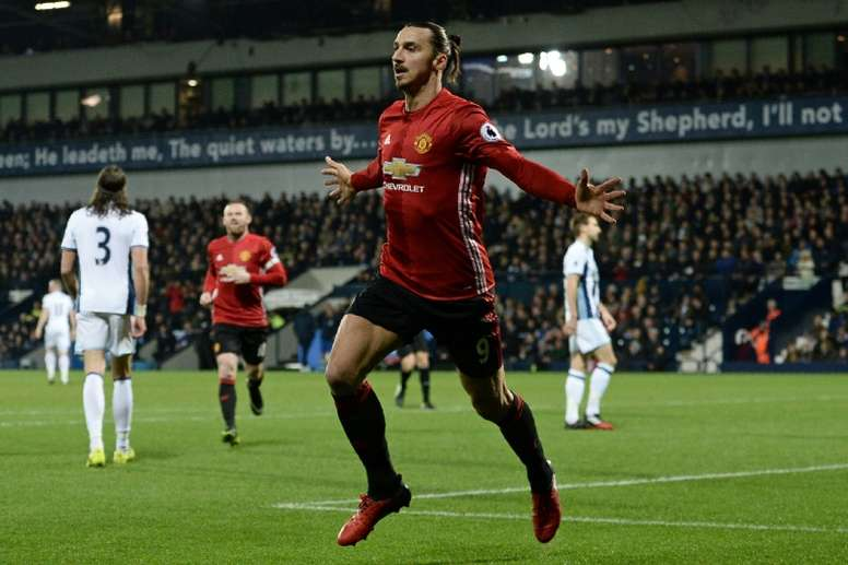 He has scored 16 goals in 25 appearances for United. AFP
