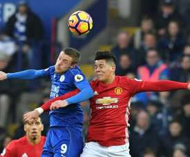 Marcos Rojo (R) could be joining Chris Smalling at Roma. AFP