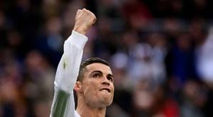 CR7 a cravar ainda mais o seu nome na história do futebol mundial. AFP