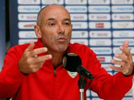 French coach Paul Le Guen, pictured on October 7, 2015, led Lyon to three Ligue 1 titles between 2002 and 2005