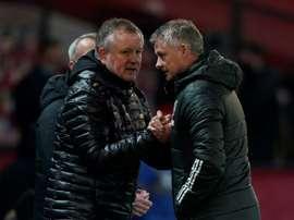 Sheffield Utd boss Wilder coy on survival hopes after shocking Man Utd. AFP