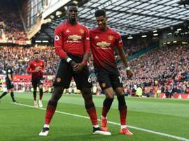 Solskjaer is couting on Pogba and Rashford. AFP