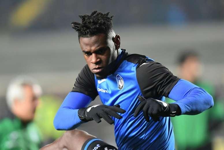 Duván Zapata est en forme cette saison. AFP