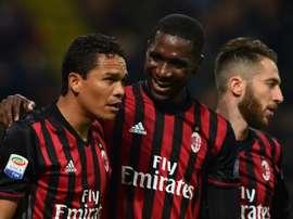 L'AC Milan piétine en championnat. AFP