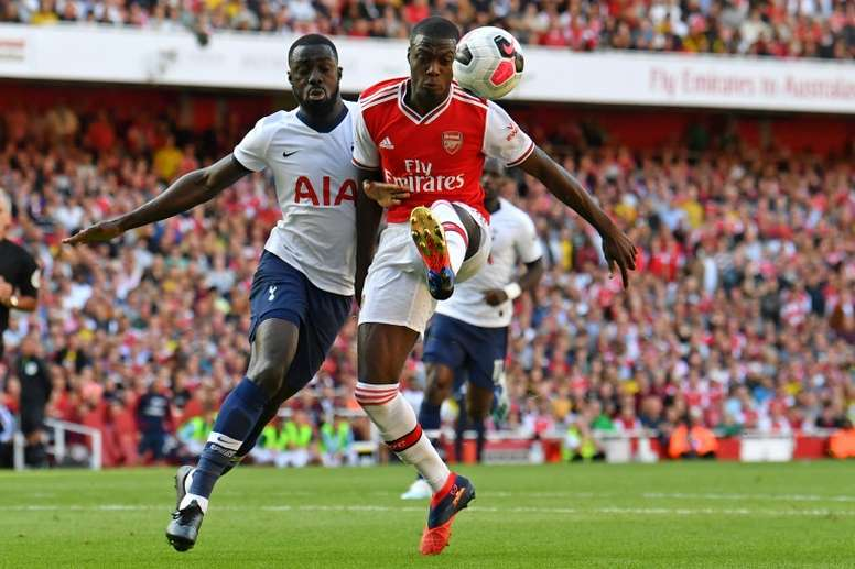 Emery tells Pepe to embrace Arsenal pressure. AFP