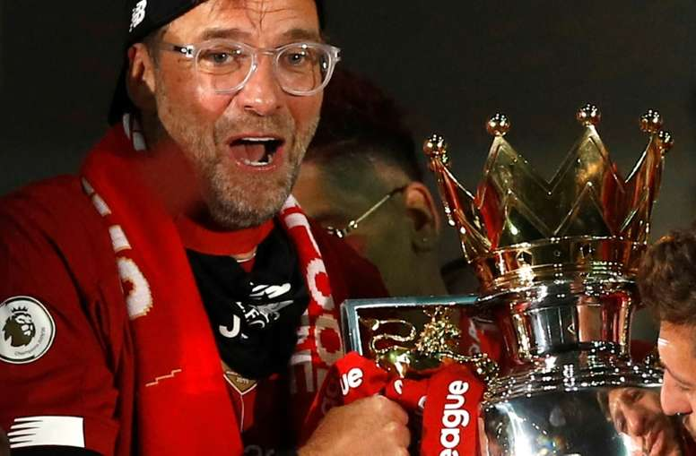 Klopp won the manager of the year. AFP