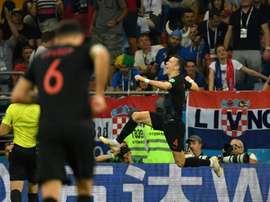 Perisic grabbed the winner for Croatia. Captura