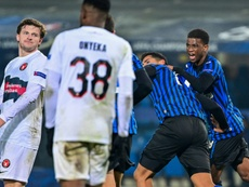 Romero secures crucial point for Atalanta against Midtjylland. AFP