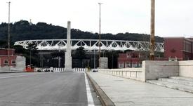 El Olímpico de Roma podría albergar los partidos que quedan por jugarse de la Serie A. AFP/Archivo