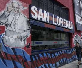 Pope Francis is a well-known fan of San Lorenzo. AFP