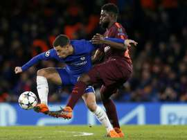 Hazard elogia Messi. AFP