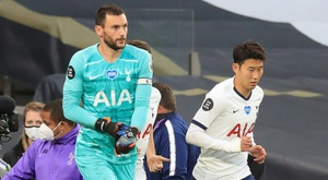 Hugo Lloris and Son Heung-min were involved in an ugly spat at half-time. AFP