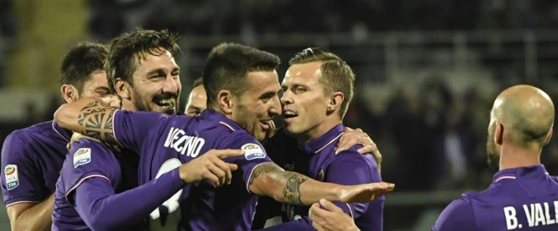 A Fiorentina bateu a Lazio por três bolas a duas. AFP