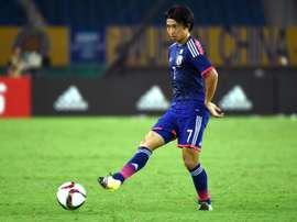 Japanese midfielder Gaku Shibasaki announced himself on the international stage with two goals. AFP