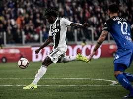 Vitória da Juve: Kean ao melhor estilo CR7. AFP