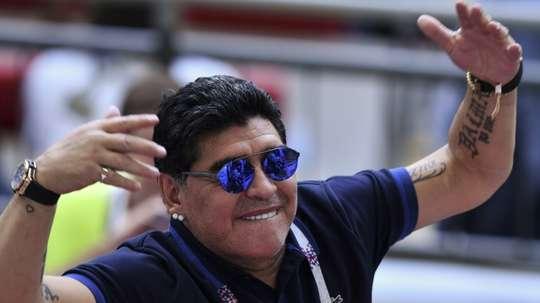 Maradona cargó contra la CONMEBOL. AFP
