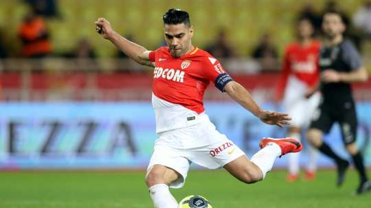 Falcao's brace means Monaco will face PSG in the final. AFP