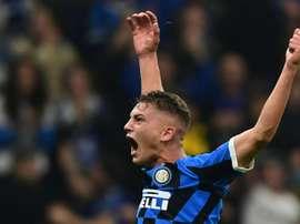 Sebastiano Esposito deverá ser cedido para ganhar minutos. AFP