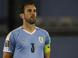 Diego Godin was one of the Uruguay players to test positive for COVID-19. AFP