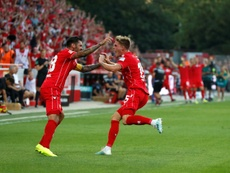 Marius Buelter scored twice as Union Berlin claimed their first ever Bundelsiga win. AFP