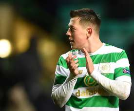 Callum McGregor had some fighting talk for Aberdeen ahead of the final. AFP