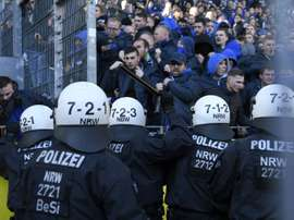 Police investigate fan trouble in Dortmund. AFP