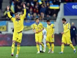 Yarmolenko consiguió dos goles ante Turquía. AFP