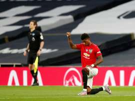 Rashford took the knee. AFP