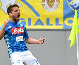 Mertens has now scored as many goals for Napoli as the great Maradona did. AFP