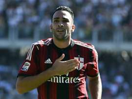 Sevillas French defender Adil Rami, pictured on September 28, 2014, is ruled out for up to six weeks with a groin injury